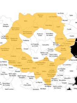 Consultations comportementaliste félin à Nantes sud et ouest et autour - carte